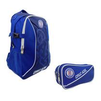 Paquete Mochila Y Lapicera Futbol Soccer Cruz Azul 7813-4