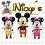 6 Globos De Mickey Y Minnie Mouse De 114x63cm Gigante Decora