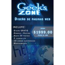 Pagina Web, Hosting Ilimitado, Dominio, Ftp, Email Y Mas