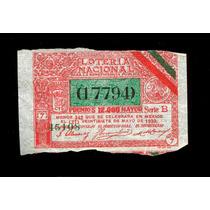 Boleto De Lotería Mexicana De 1930