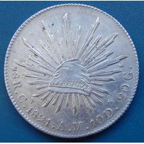 8 Reales Culiacan 1891 Cn C Am Escasa Plata Original