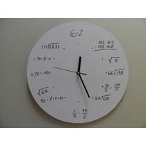 Reloj Matematico Personalizado