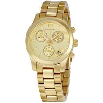 Reloj Dama Michael Kors Runway Dorado Acero Garantia Mk5384