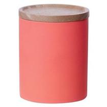 Bote De Ceramica Multifuncional Naranja Soft Touch P/ Cocina