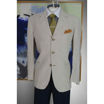 Exclusivo Saco Blazer Aldo Conti Talla 42r Color Beige