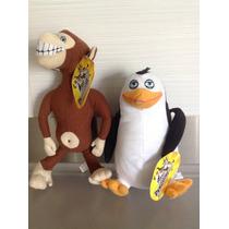 Madagascar Pingüino Y Chango Nuevo Original 27 Cm 2x350