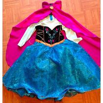 Disfraz Vestido Frozen Ana Anna Princesa