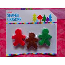 Set De Crayones En Forma De Galletas De Navidad