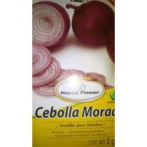 Pack De 1gr De Semillas De Cebolla Morada Con Flores! Ooohhh