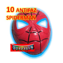 10 Mascara Spiderman Superheroe Economico Juguete Piñata May