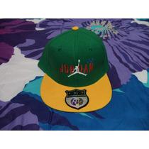 Gorra Jordan Verde C/amarillo Ked & D B Boy Etiquetada 7 1/4