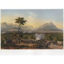Lienzo Tela Grabado Captura De Monterrey México 1847 50x68cm