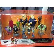 Paquete De 10 Figuras De Zootopia Disney Store