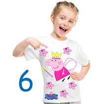 Peppa Pig Playeras Personalizadas Nombre Gratis