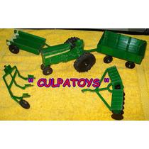 --- Tractor John Deere Vintage De Metal Marca Ertl --