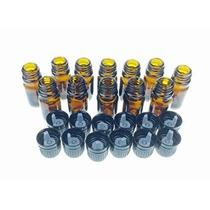 5 Ml Botellas De Vidrio Ámbar W / Euro Cuentagotas. Cap Negr