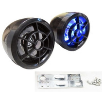 Bocinas Para Moto Con Luz Led Y Bases De Metal Para Espejos