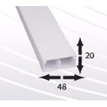 Canaleta Pvc 2 Vías 8 Cables 48mm X 20mm X 2m Autoext