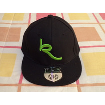 Gorra Negro C/verde Ked & D B Boy Etiquetada Xl 58 Cm