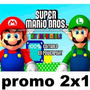 Kit Imprimible Mario Bros, 100% Editable En Powerpoint 2x1