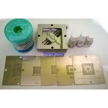 Kit 5 Stencils 80x80 Lap+ Soldadura+base Reballing+flux