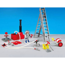 Playmobil 6288 Bomberos Y Equipo Rescate Add On Retromex