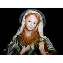 Virgen Con Niño Dios. Con Movimiento Y Luz. Figura Navidad