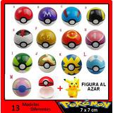 Pokebola 7cm Cosplay + Pokemon De 2.5 A 3 Cm Al Azar