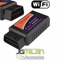Escaner Automotriz Obd2 Elm327 Estandar Wifi Con 2 Cd´s