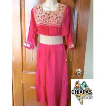 Lindo Vestido Bordado De Chiapas, Telar De Cintura. Unitalla