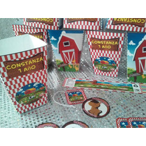 Stickers Mesa De Dulces, Etiquetas Agua, Redondas, Palomitas