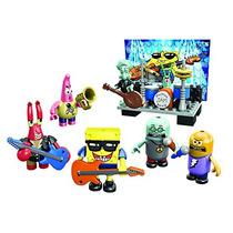 Bob Esponja Set Figuras Mega Blocks Banda Rock Remate
