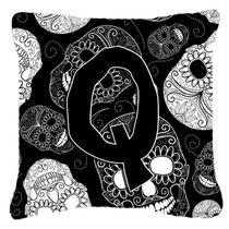 Letra Q Día De Los Cráneos Muertos Negro Tela De Lona Almo