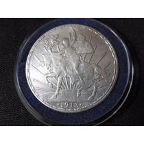 Moneda Plata Un Peso Caballito 1913