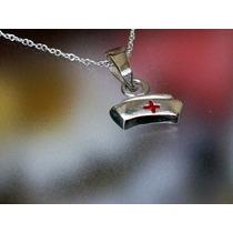 Dije Cofia Corazón Cruz Enfermera Ciencia De Salud Plata