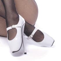 Zapatillas Extremas Pleaser Ballet 08 Blanco,negro Y Rojo
