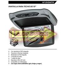 Pantalla Para Techo Hf-dvdmt10 Reproductor De Dvd