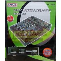 Mezcladora Audio 4 Canales C/amplificador Dxr012502