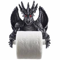 Soporte Para Papel De Baño Con Forma De Dragon Blakhelmet Sp