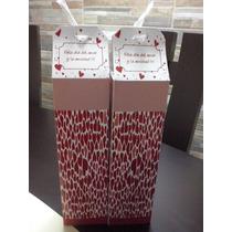 10 Cajitas De Carton San Valentin, Dia Del Amor Y Amistad