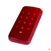 Celular Flip Rojo Adultos Mayores Bluetooth Audiomarcación