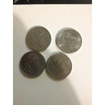 4 Monedas De 50 Cvos Cabeza De Palenque Año 1983