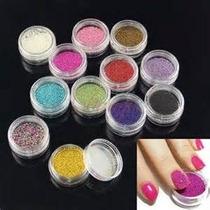 Decoración De Uñas Caviar Set 12 Colores Mn4