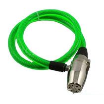 Cable Candado C/ Alarma! Multiusos Moto Alta Seguridad Verde