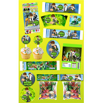 Kit Imprimible Ben 10 Personalizado Mas De 30 Etiquetas