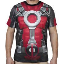 Marvel Deadpool Playera Sublimada Nueva, Importada Original