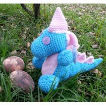 Dinosaurio En Crochet