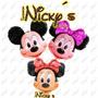 Globo Cabeza De Mickey Y Minnie Mouse De 70x65cm,cumpleaños