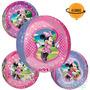 2 Globos Metalico Orbz Esfera 4 Vistas Minnie Mouse P/ Helio