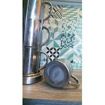 Porta Tarros De Aluminio Grueso +4 Tarros Pocillos. Stainles